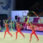 Команда України на чемпіонаті Европи з художньої гімнастики. (Фото: Євген Бристовицьий)