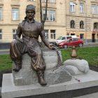 Пам'ятник Юрієві-Францеві Кульчицькому у Львові. (Фото: Ігор Галущак)