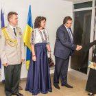 Дипломати Посольства України в Ізраїлі зустрічають гостей. (Фото: Світлана Глаз)