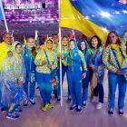 Прапор України на параді олімпійців несла фехтувальниця Ольга Харлан (Фото: НОК)