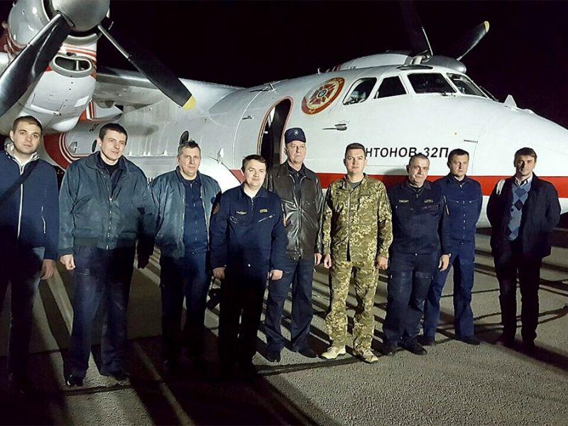 Залога українських повітряних пожежників. (Фото: прес-служба Посольства України)