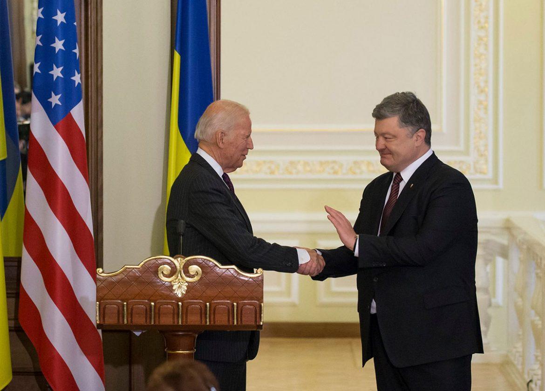 Віце-президент США Джо Байден під час спільної прес-конференції з Петром Порошенком (Фото: Посольство США в Україні)