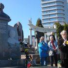 Відкриття пам'ятника Дмитрові Гнатюкові на Байковому кладовищі Києва. (Фото: Георгій Лук'янчук)