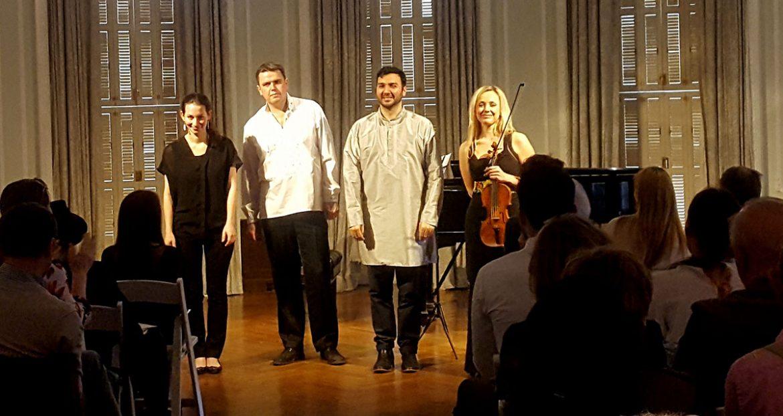 Виконавці концерту (зліва): Моран Кац, Богдан Кривопуст, Івес Джарамраж та Соломія Івахів. (Фото: Олена Сідлович)
